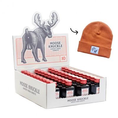 Moose Knuckle - Hunters Vodka Likorette 10° ( 40 stuks + muts )