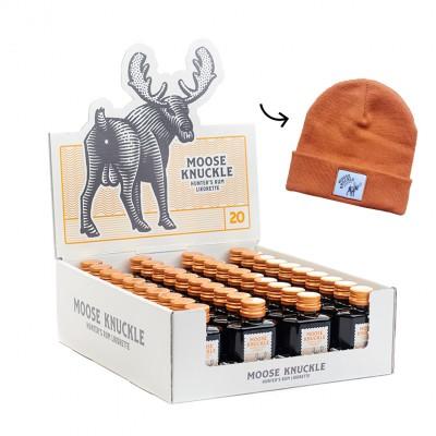 Moose Knuckle - Hunters Rum Likorette 20° ( 40 stuks + muts )