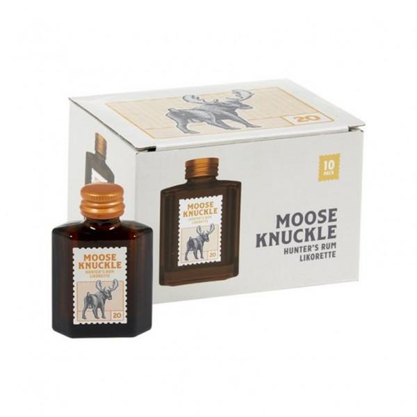 Moose Knuckle - Hunters Rum Likorette 20° ( 10 stuks )